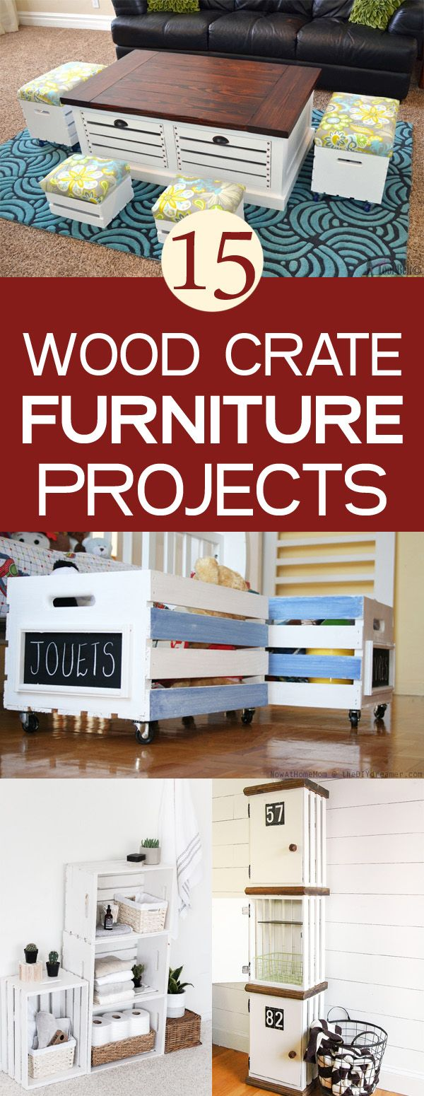 15 DIY Wood Crate Furniture Projects
