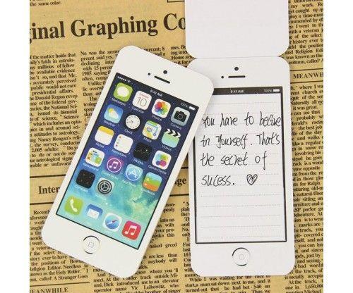 iPhone alakú post-it jegyzettömb kütyümániásoknak, sokat telefonálóknak remek ajándék ötlet