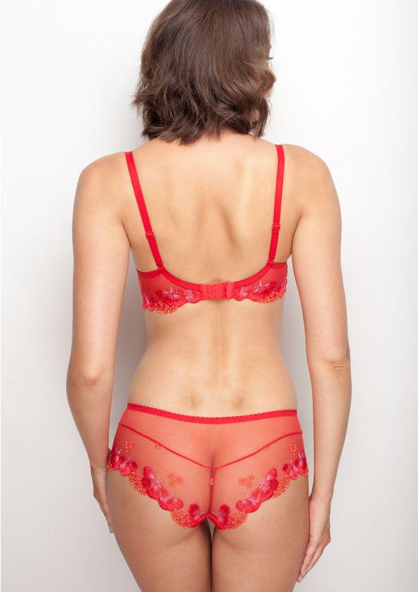 Samanta lingerie - New collection Goshenit crimson bra: A475 pants: D300 www.samanta.eu
