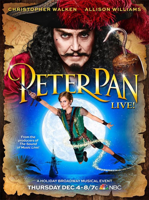 allison williams takes flight in peter pan live poster