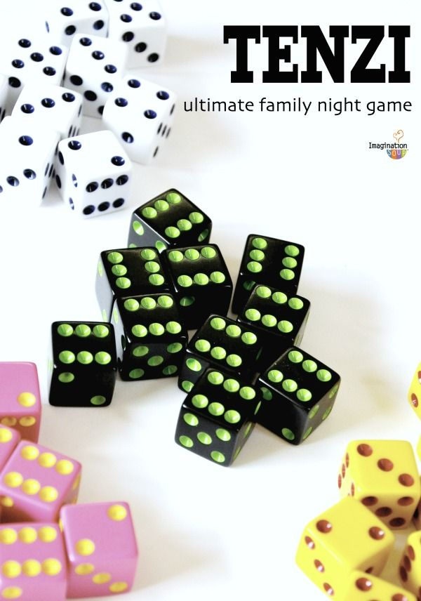 Tenzi is the Ultimate Family Night Game because it's so much fun and GREAT for all ages. Change the rules and make it a math game.