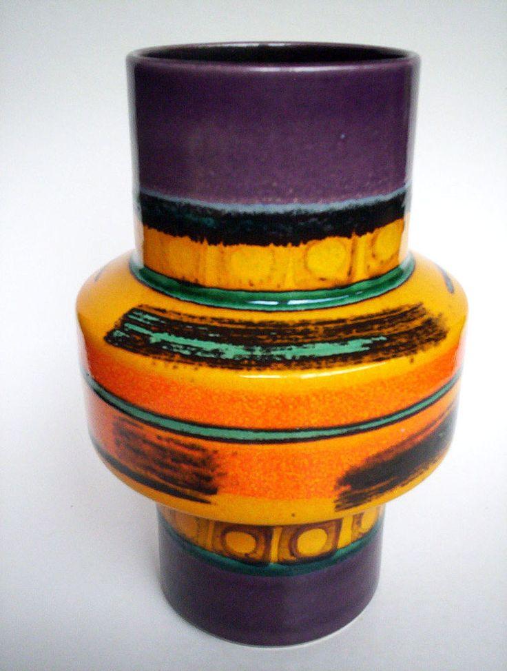 Céramique vase 21cm Dumler + BREIDEN GERMANY pottery space age Fat Lava era vintage