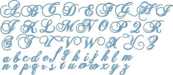 Fancy Script Alphabet Uppercase And Lowercase Monogram