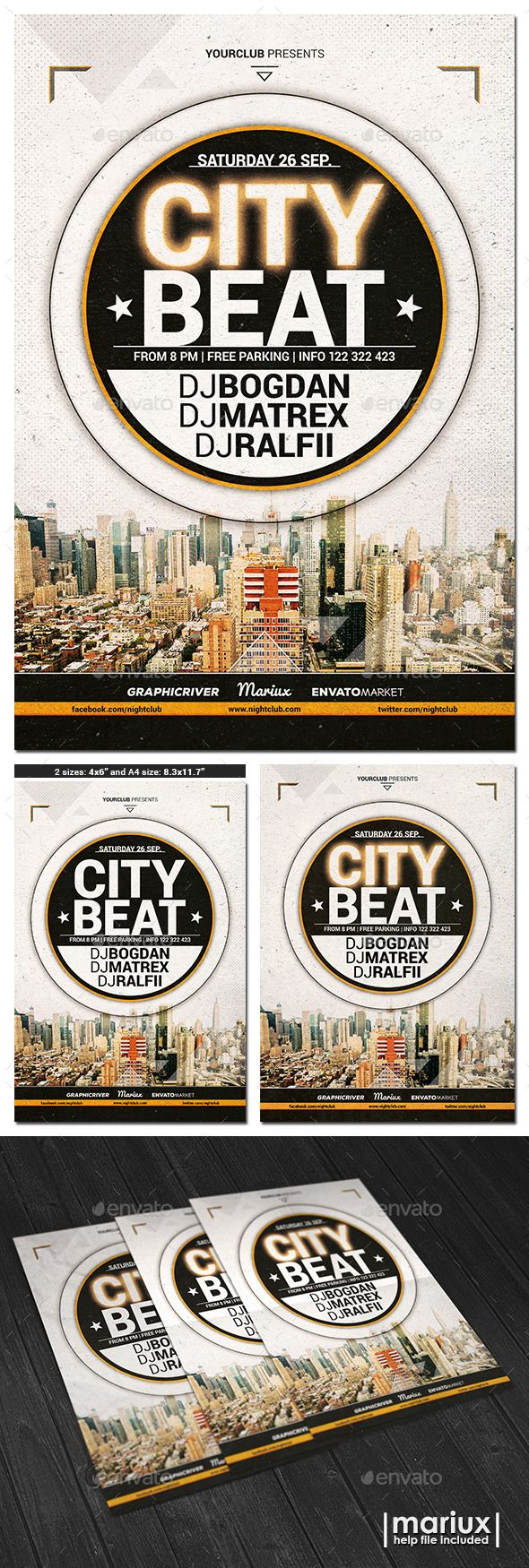 City Beat Flyer Poster