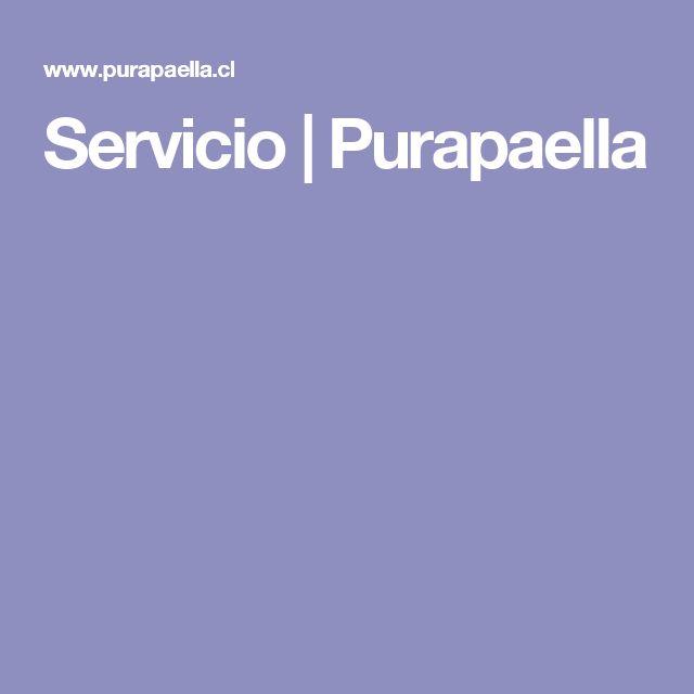 Servicio | Purapaella