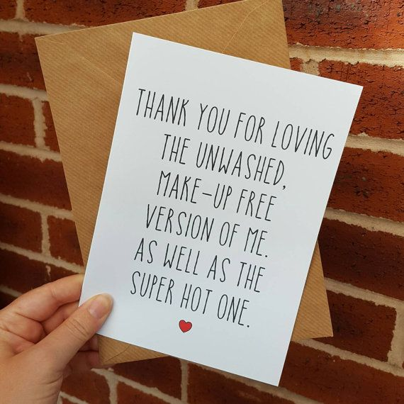 Birthday card boyfriend friend anniversary blank inside funny joke humour make up free me