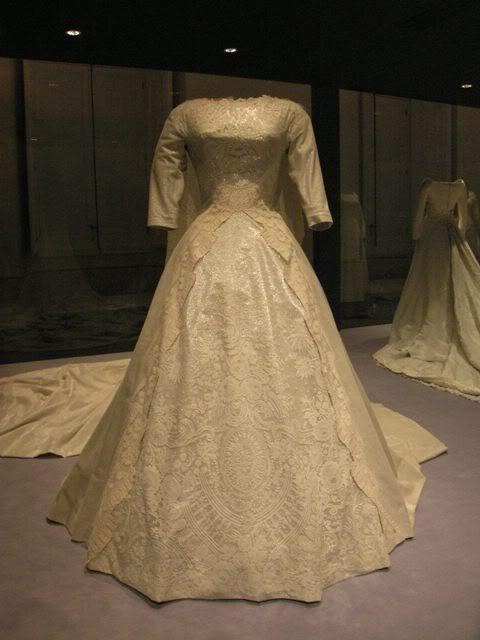 The wedding dress of Queen Sofia.