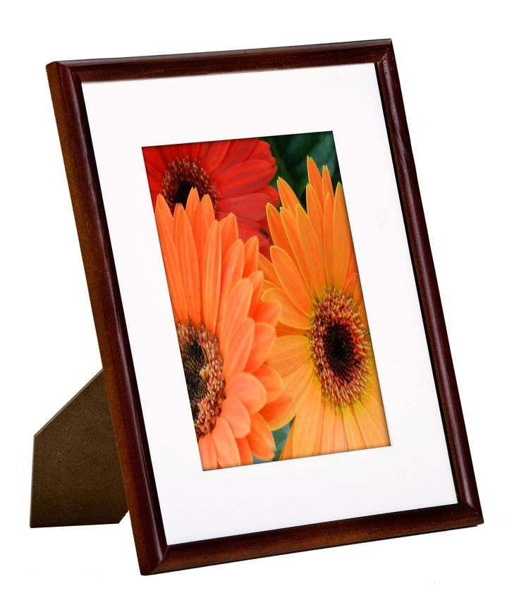 8 x 10 matted picture frame for table or wall white mat