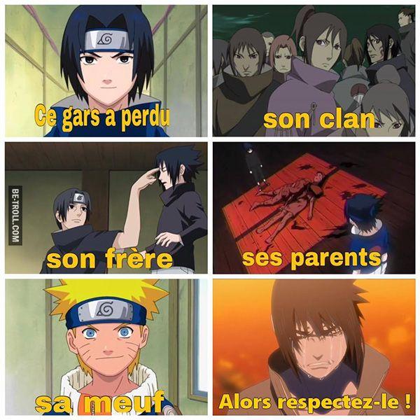 Respectez Sasuke ! | Be-troll. Hum... Sa meuf, c'est contestable. Sakura en train de se déclarer à Naruto, ça serait quand même un peu plus plausible comme image...