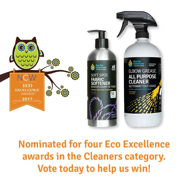 A panel of leading experts made us Eco Excellence finalists again! We need you, our purpose driven, smart & savvy Live for Tomorrow fans to help us win. All it takes is your votes. Perks: good karma to you, and the planet too! @NCWMagazine #CleanupwithLFT #EcoExcellence http://qoo.ly/hisg9