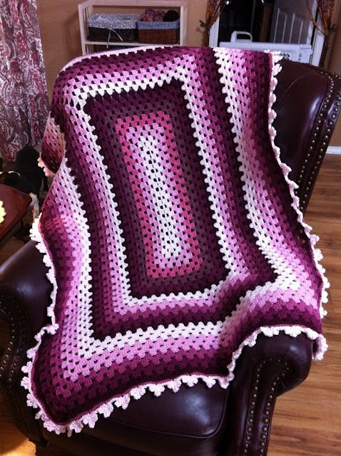 Filigree Edging by The Garden Bell: Rnd 1:  SC all around.  Rnd 2:  (SC, CH 5, SC, CH 7, SC, CH 5, SC) in same SC, CH 4, skip next 5 st, rep around. http://www.ravelry.com/patterns/library/stained-glass-window-afghan-156