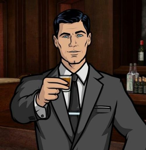 Sterling Archer. I have a crush on a narcissistic cartoon...who have I mentioned is totally HOT