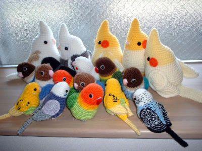 Вязание крючком: птицы, попугаи