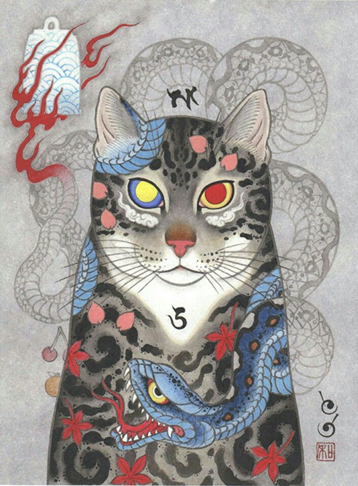 #horitomo#monmon cat#gato#pintura#dibujo#painting#tattoo