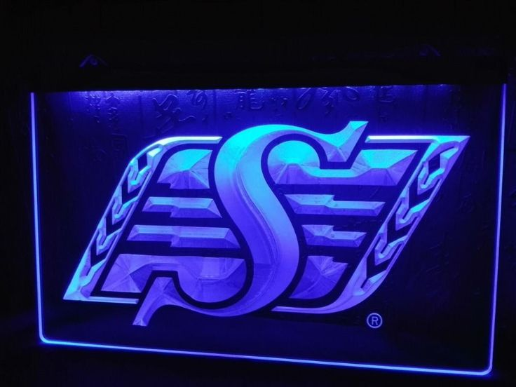 LD418- Saskatchewan Roughriders Sport LED Neon Light Sign home decor Man cave