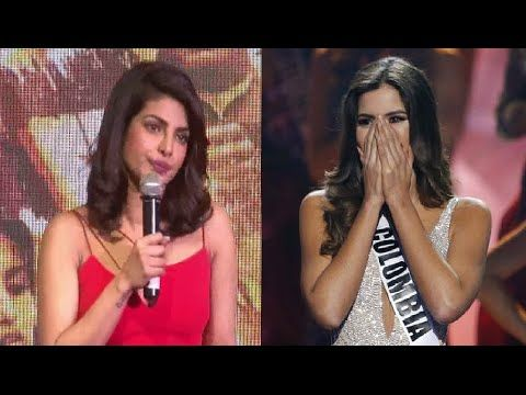 Priyanka Chopra reaction on tragedy happens with Miss Colombia | Miss Universe 2015.