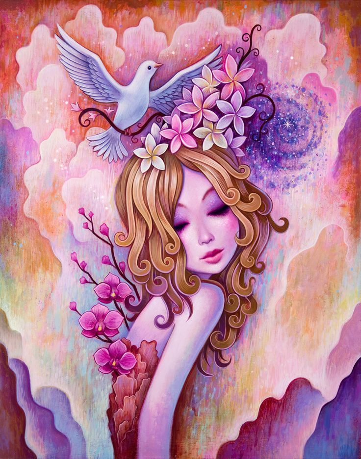 Spirals, Acrylic on Wood, 11 x 14 inches, 2014. All Rights Reserved | Jeremiah Ketner