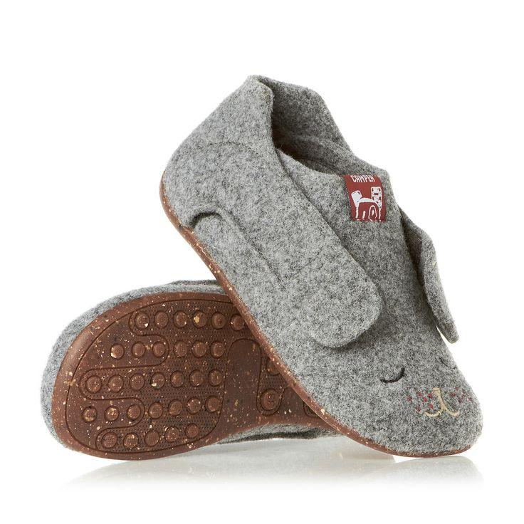 Camper Wabi Slippers - Tweed Gris/Way Rechoney | Free UK Delivery