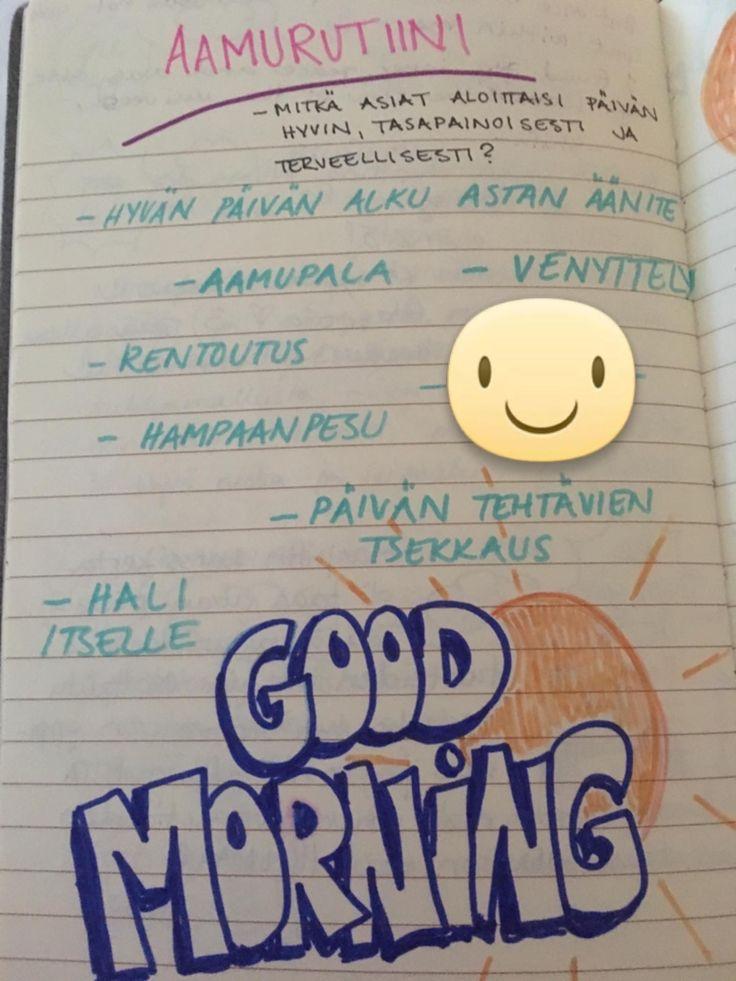 aamurutiini routine for mornings
