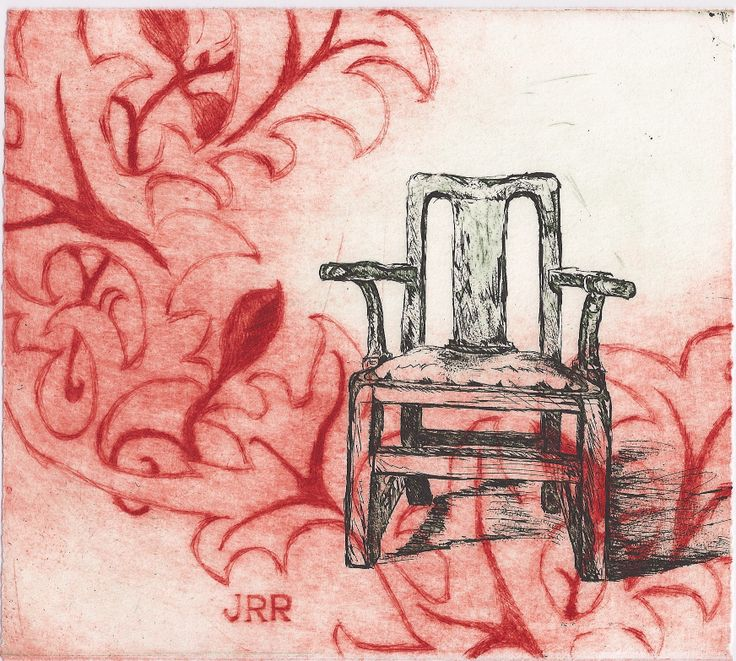 """""""Hours and Hours"""" dry point & etching, 2009, by Jane Rusden"""