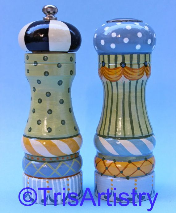 7 best painted salt and pepper shakers images on pinterest Funky salt and pepper grinders
