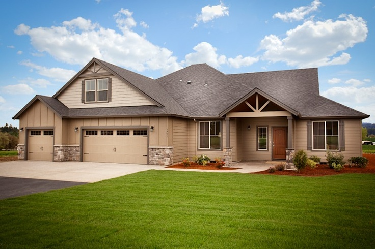 Front Elevation Bonus Rooms : The cascade elevation with a more classic ranch look