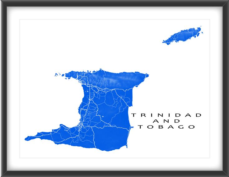 Trinidad and Tobago map art print.    Modern, graphic and eye-catching. Trinidad and Tobago map art with a white street network design. Perfect for your travel wall or to add to your existing home decor.  The lighter coloured areas on the map are higher elevations (like mountains) and the darker areas are closer to sea level.  The white street lines meet at larger communities, such as: * Port of Spain * San Fernando * Scarborough #trinidad #tobago #map