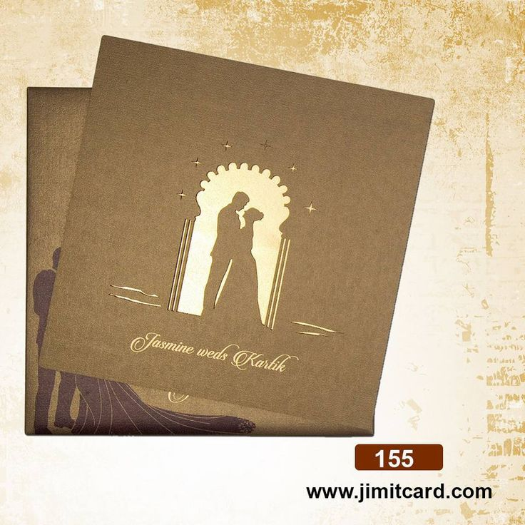telugu wedding invitation cards online%0A It is a cardboard with a  lasercut  WeddingCard out of a couple under an