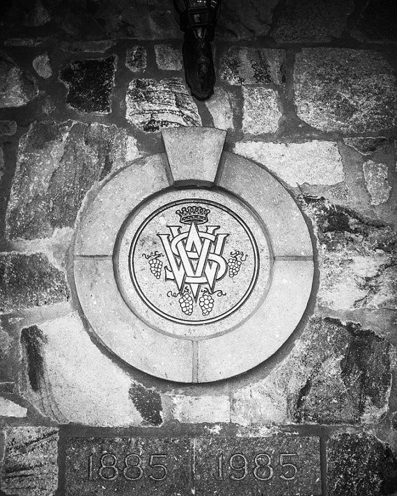 8x10 Black and White Print Winery Logo Over A by PelliculArt
