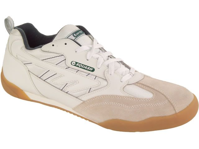Hi-Tec Classic Squash Shoe - White Green You've paid up your court membership fees, you've bought a snazzy new racket and a pack of 3 balls (as they're easily lost in a squash court) and you've forked out for an expensive sweat-wicking shirt http://www.MightGet.com/february-2017-2/hi-tec-classic-squash-shoe--white-green.asp
