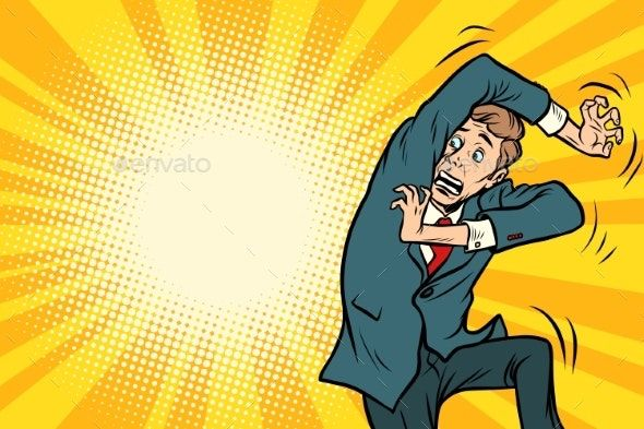 Scared Man By Rogistok Graphicriver Cartoon Expression Funny Poses Pop Art Illustration
