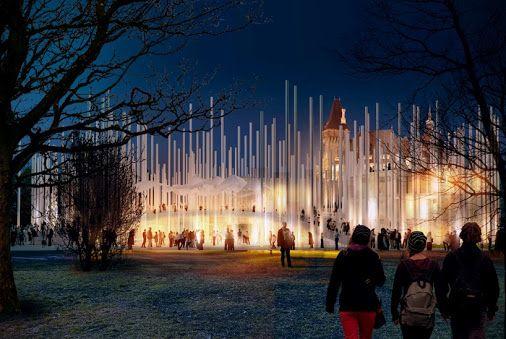Progettato dallo studio di ARCVS casa ungherese della musica. Una struttura di cilindri, rampe, che rappresentano alla perfezione la musica.
