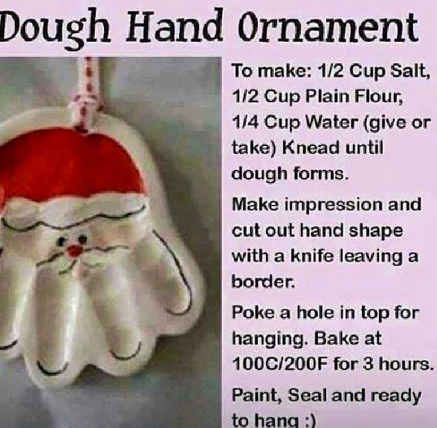 Fun dough ornament so you can remember how little they were each Christmas!