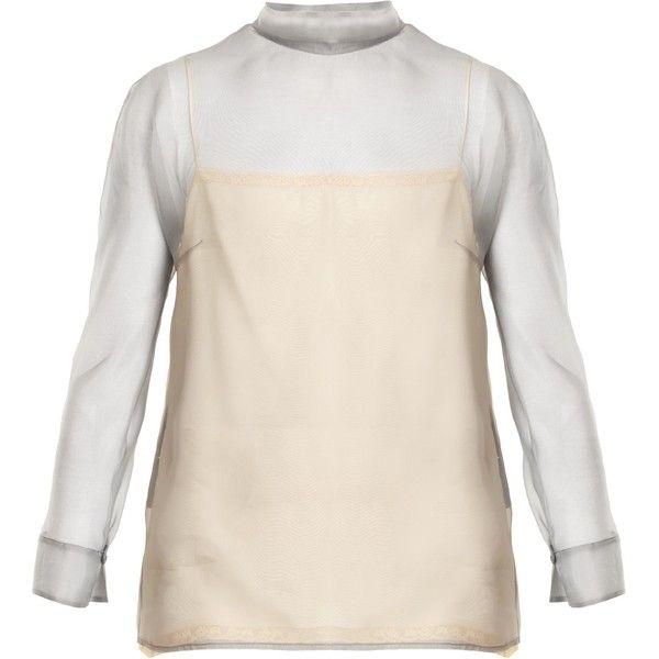 Best Seller Online High-neck silk blouse Prada Cheap Sale Original Shop Offer Sale Online TlX0Fopm5