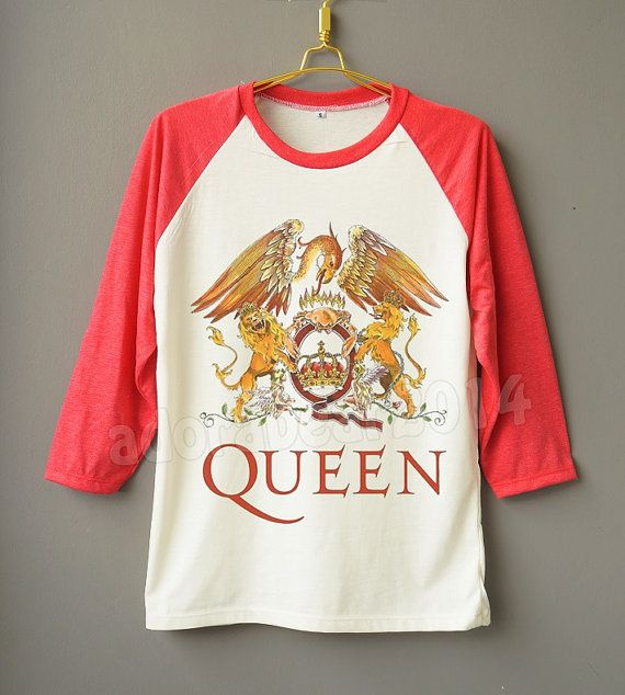 QUEEN Shirt Freddie Mercury Shirt British Rock Band Shirt Raglan Baseball Shirt…