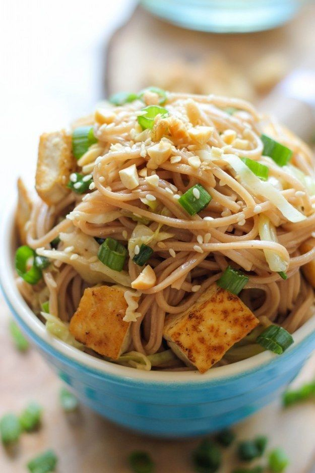 Tofu Soba Noodles | 27 Delicious And Healthy Meals With No Meat
