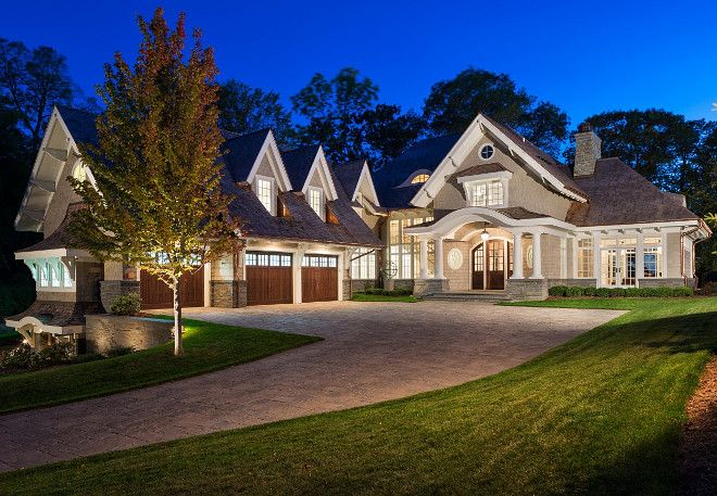 Shingle Home with portico. Shingle Home with portico ideas. Shingle Home with portico front door. #ShingleHome #portico John Kraemer & Sons.