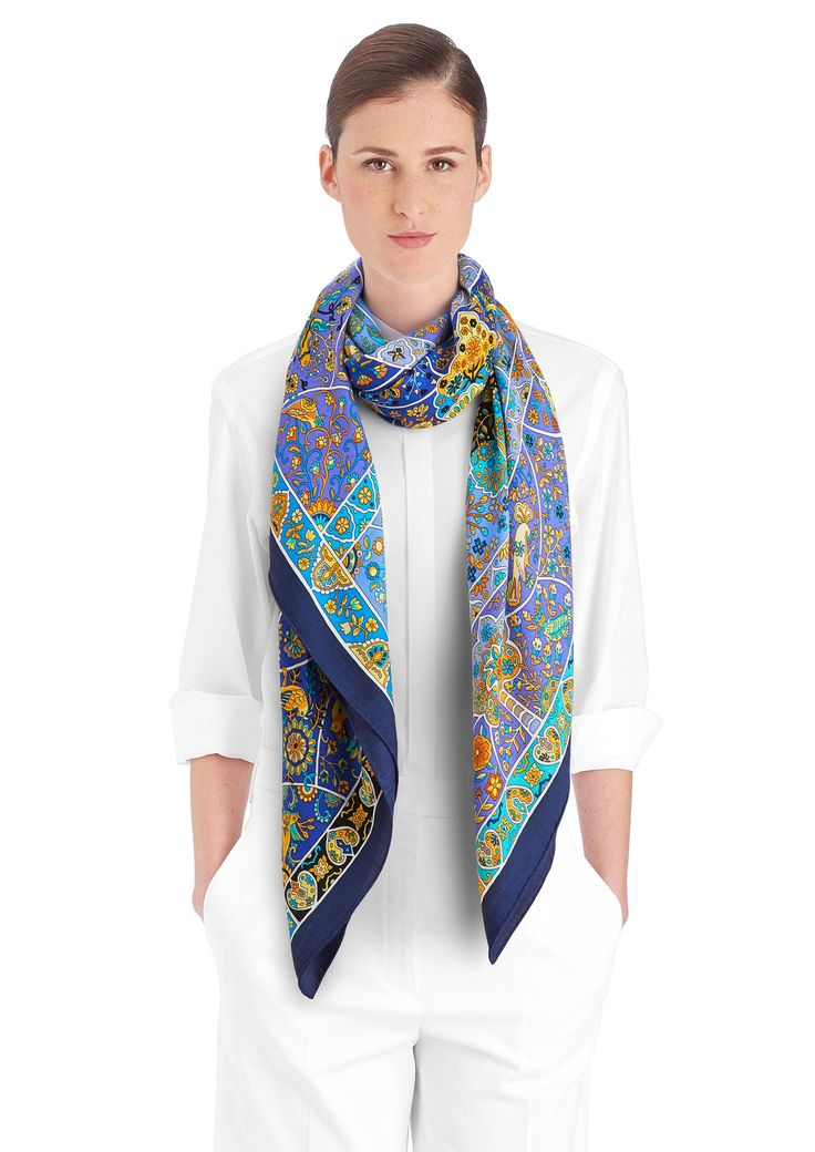 Silk Square Scarf - Double Agent by VIDA VIDA 0jOEJIL