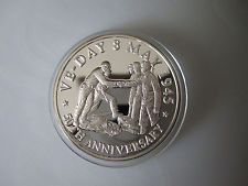 Turks and Caicos 20 Crowns 1995 VE Day 50th aniversary Proof Silver