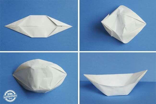 7 best folding paper boats images on pinterest paper boats origami paper and paper craft. Black Bedroom Furniture Sets. Home Design Ideas