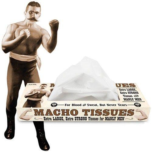 Kun for machomænd! Disse lommetørklæder til rigtige machomænd er ekstra store og ekstra stærke - kun til blod og sved, aldrig til tårer!