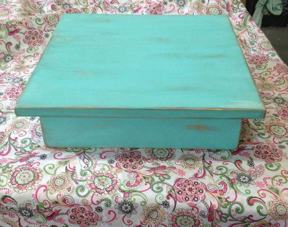 Wedding Cake Stand, aqua blue,birthday cake stand,square cake stand,cupcake…