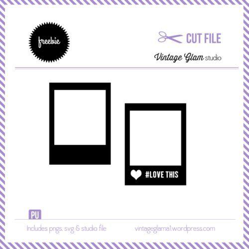 Free Silhouette Cut File - Polaroid Frames - Vintage Glam Studio
