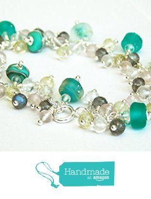 artisanmade designer lampwork gemstone charm cluster bracelet from kreations by karen jewellery http