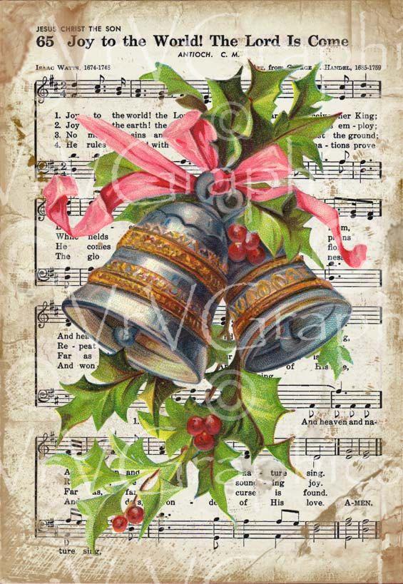 Musical Christmas Bells Decorations Decorative Design