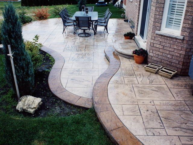 16 best stamped concrete images on pinterest   stamped concrete ... - Stamped Concrete Ideas Patios
