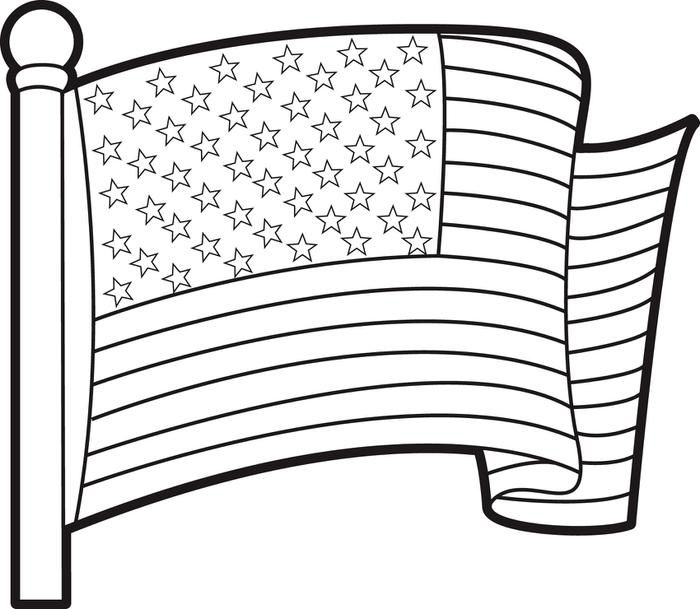 American Flag Coloring Pages American Flag Coloring Page Flag