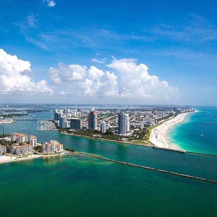 Postcard views from Miami  by @kevinmontello with @southbeachhelicopters #miamibeach #miami