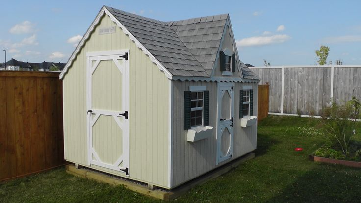 Looking for a playhouse for the kids or some extra storage space with some elegant Victorian style? Look no further! This recent 8' X 10' playhouse/shed combo was recently built on location in Orléans, ON. It may be just what you're looking for.   Visit our website for more photos and information: http://northcountrysheds.com/kids/kids-play-houses/victorian-playhouse/