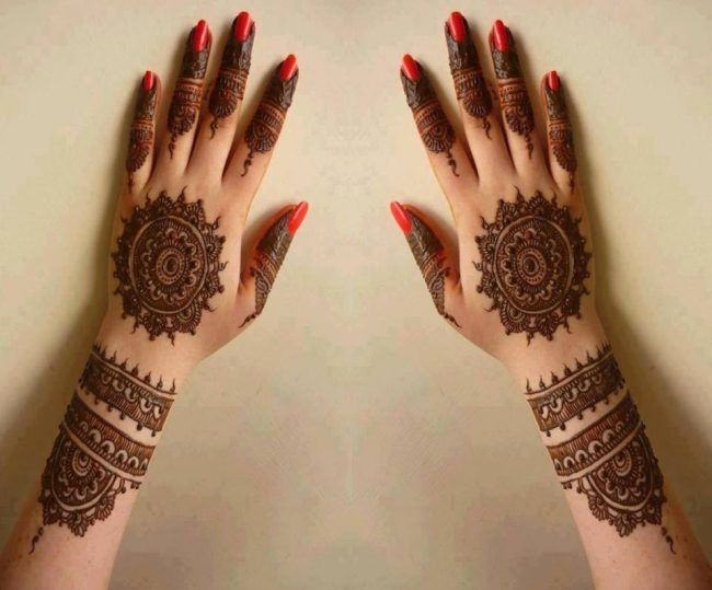 Brides Mehndi Designs 2017-18 For GIrls-